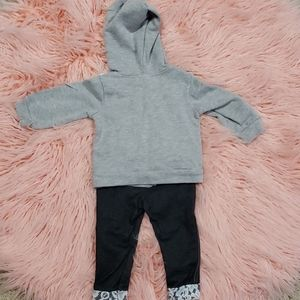 Little Lass Matching Sets - Little Girl Zip Hoodie and pants outfit